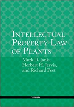 Book Intellectual Property Law of Plants