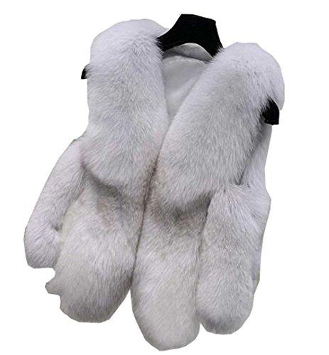 リアル寛容な安定したGuDeKe レディース 毛皮 ベスト フェイクファー 秋冬服 暖かい 防風 防寒コート 無地 ショートアウター ケープ 着痩せ おしゃれ ふわふわ
