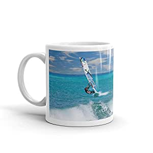 DV Mugs Ltd Windsurf navegar Surfer Surfing olas playa alta calidad 10oz taza de café té # 8149