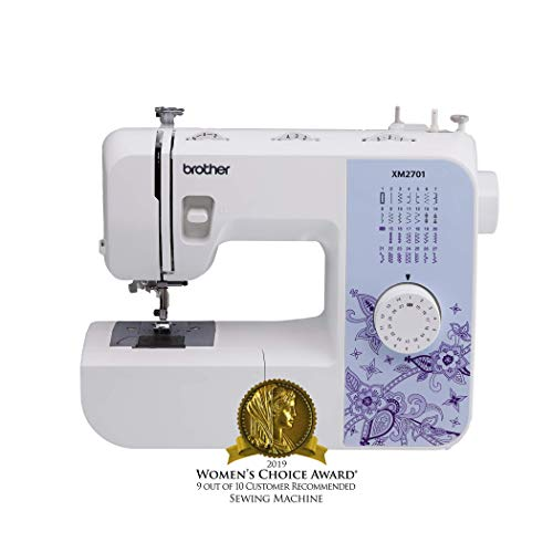 (Brother Sewing Machine, XM2701, Lightweight Sewing Machine with 27 Stitches, 1-Step Auto-Size Buttonholer, 6 Sewing Feet, Free Arm and Instructional DVD)
