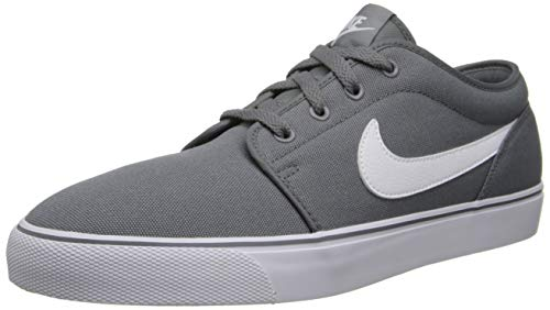 Nike Casual Sneakers - Nike Mens Toki Low Txt Casual Shoe Cool Grey/White 7.5 D(M) US