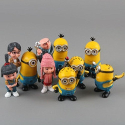 Despicable Me 2 Figures 3d Eye Minions 10pcs/set PVC Action Figures Toys Doll Kids Gift