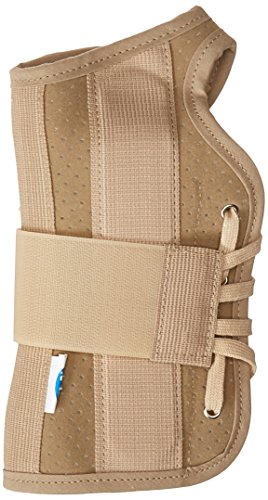 - FLA Soft Fit Suede Right Finish Wrist Brace, Beige, Medium