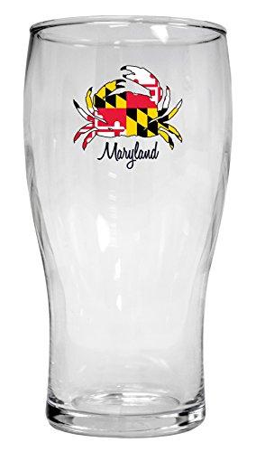 Maryland Crab 16 oz Pilsner Glass