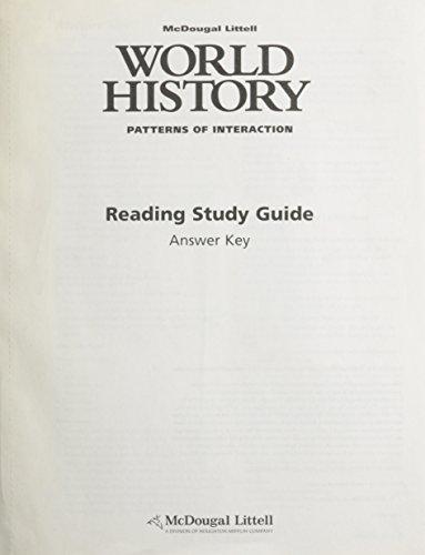 McDougal Littell World History: Patterns of Interaction: Reading Study Guide Answer Key