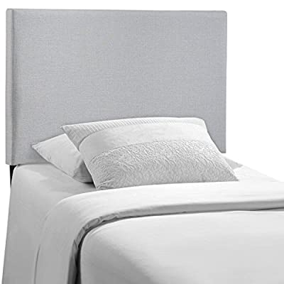 Modway Region Full Upholstered Linen Headboard in Ivory