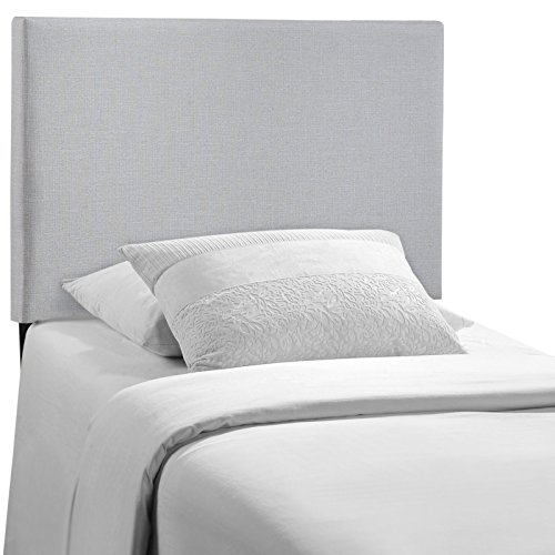 Modway Region Twin Upholstered Linen Headboard in Gray by Modway (Image #1)