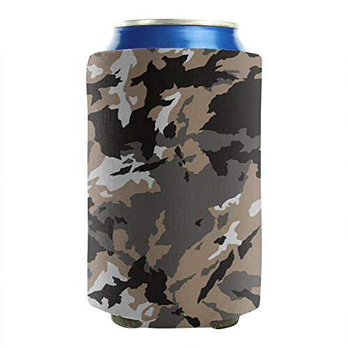 Classic Woodland Fashion Camouflage 12-16 OZ Bottles Insulated Beverage Beer Can Sleeves Non-Slip Drink Coolers Keeps Your Drink Ice Cold 2 Pack Parties