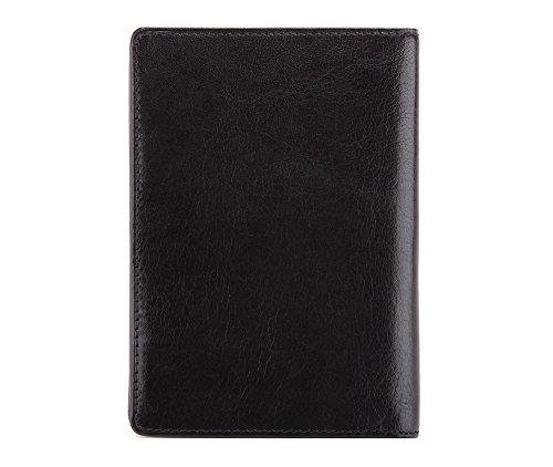 Wittchen Brieftasche   Farbe: Schwarz  Material: Narbenleder  Größe: 9,5x13,5 CM,   Orientierung: Vertikal   Kollektion: Italy  21-1-020-1