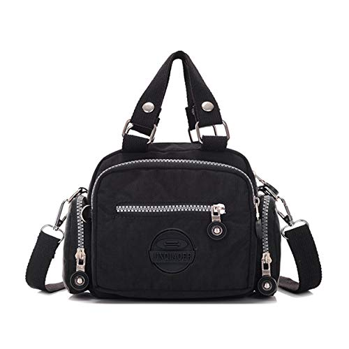 Tiny Mini Chou Girls Resistant Black Cross amp; Handbag Nylon Color Women Body Water For Shoulder Bag Solid rSS5UxFwdq
