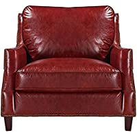 Oliver Pierce OP0056 Braxton Leather, Club Chair, Red