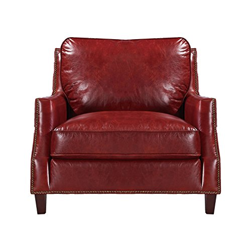Oliver Pierce OP0056 Braxton Leather Club Chair Red ()