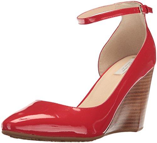 Cole Haan Women's Sadie Ankle Strap Wedge 85MM Platform, Goji Berry Patent, 6.5 B US