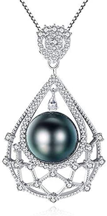 tahitian pearl necklace pendant bridesmaid pearl necklace jewellery natural pearl black pearl with s925 pendant setting