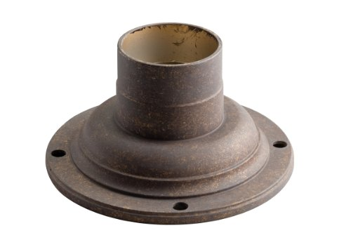 Kichler 9530TZG Pedestal Mount Adaptor, Tannery Bronze with Gold finish ()
