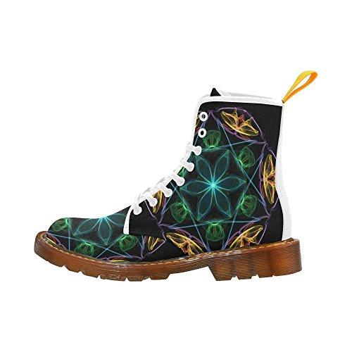Leinterest Abstracte Bloem Martin Laarzen Mode Schoenen Voor Mannen
