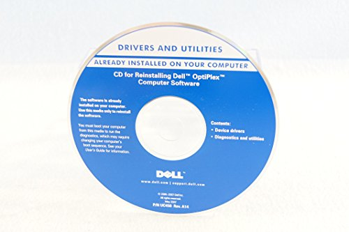 Dell Drivers and Utilities for Dell Reinstalling Dell Optiplex CD Backup Information Part Number UC450 Rev. A14 Driver-PC Software Program Install Disc