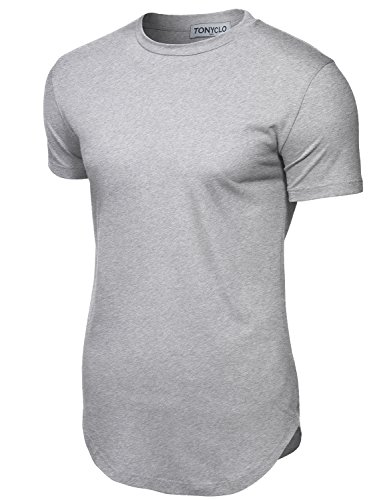 Simple Designed Cityscape Fabric Lightweight Shirt Tops ,007-heather Grey ,Medium