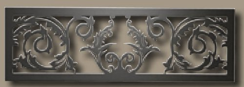 VOIK Victorian Ornamental Upper and Lower Insets for GD19 Model Fireplace Systems Painted Metallic Black (Inset Fireplace)