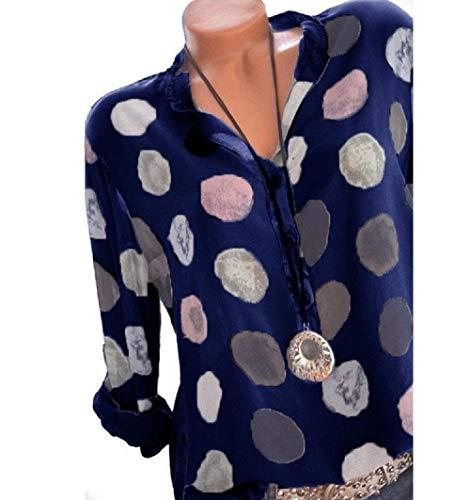 FuweiEncore M Blouse et Longues T Shirt Manches Taille Bleu Bleu Tops color gqvagw