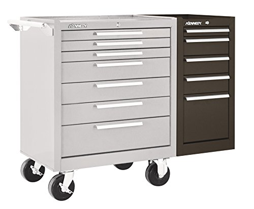 "Kennedy Manufacturing 205XB 14"" 5-Drawer Industrial Side Cabinet, Tan Brown Wrinkle"
