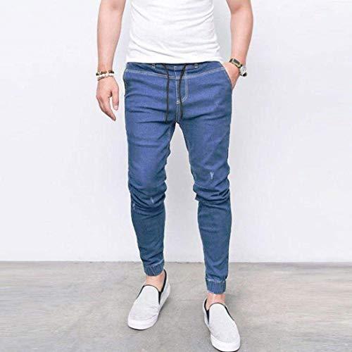 Nne Lunghi Uomo Fit Ragazzi Ufige Denim Classiche Pantaloni Da Jeans Azzurro Slim RXTpxnSw8q