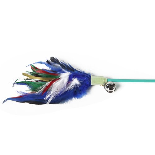 Feather on Stick Cat Toy Cat Teaser, Multi-Color, My Pet Supplies