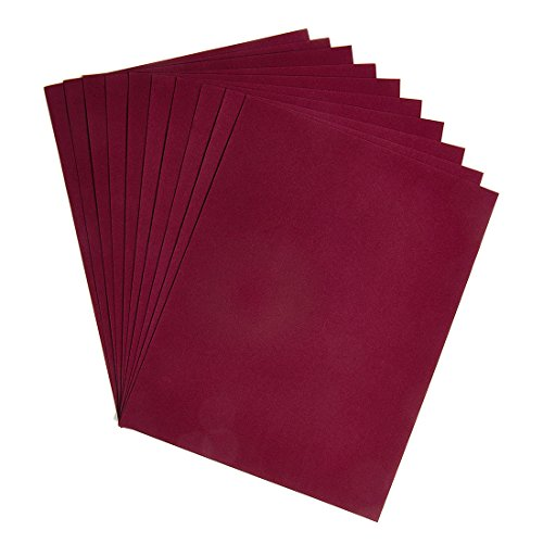 Hygloss Products Velour Paper - Soft, Velvety Surface Works With Printers – Burgundy, 8-1/2 x 11 Inches - 10 Pack