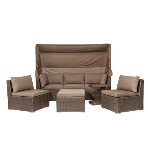 kasandria gartenm bel set inkl sofa mit dach lirvano gartenm bel sofa mit tisch st hlen. Black Bedroom Furniture Sets. Home Design Ideas