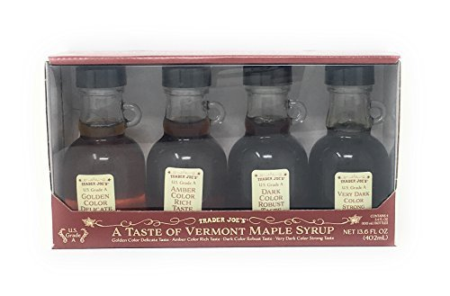 Trader Joe's A Taste of Vermont Maple Syrup Sampler (Four 3.4 Fl. Ounce Bottles) (Syrup Vermont Maple)