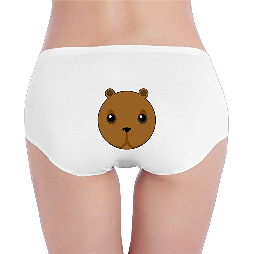 YYHU - Women's Hot Sale Cute Bear Head Thong Panty Underwear SizeSmall White