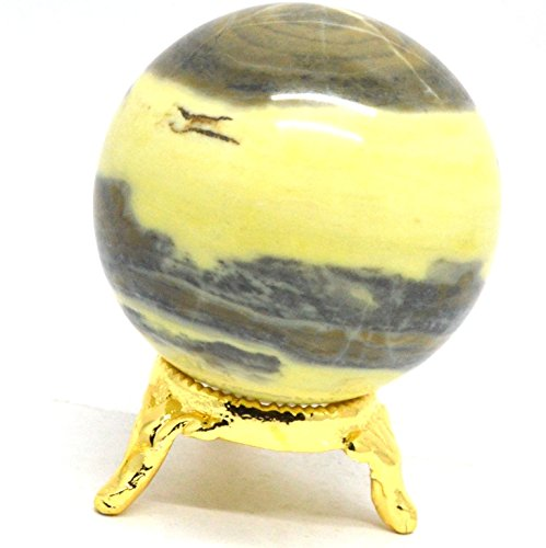 Healing Crystal Heart Ring (Healing Crystals India 40-50mm Natural Gemstone Sphere Ball Aura Balancing Metaphysical Ball)