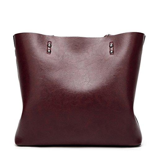 cuir les tout texturé sacs bandoulière main dames sacs Sacs pour grande fourre femmes Café noir en capacité Flada à pu YqAwgxvC