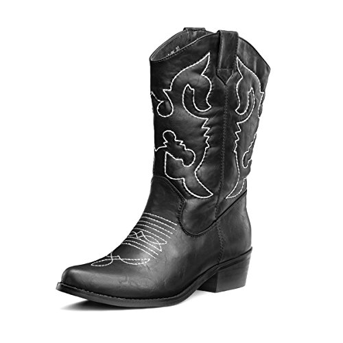 Black Calf Western Boot - 9
