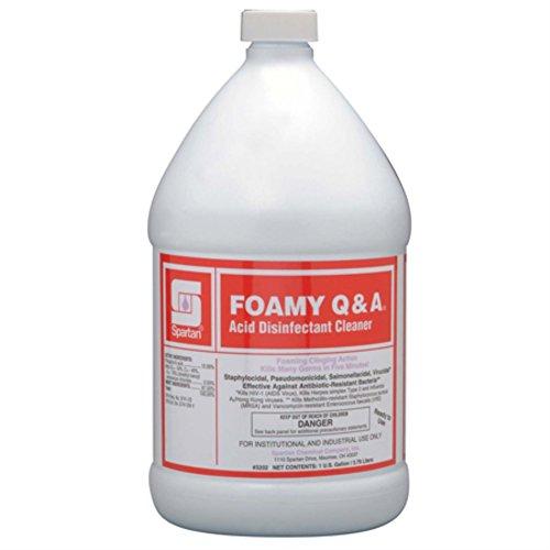 Foamy Q & A Disinfectant # 320204, 4 gal per cs -(1 - Disinfectant Case Industrial