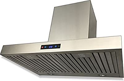 "CAVALIERE SV198Z-36E Wall Mounted Range Hood Stainless Steel 36"" Inch"