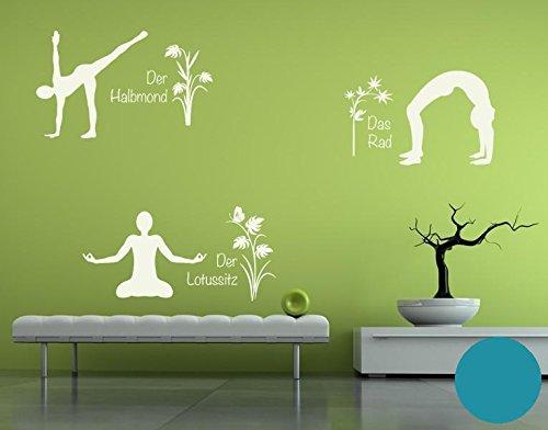 Klebefieber Wandtattoo Yoga Figuren Set 4 B x x x H  110cm x 170cm Farbe  Creme B071L2V7JQ Wandtattoos & Wandbilder cb814d