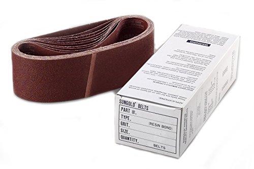 Sungold Abrasives 64871 Aluminum Oxide X-Weight Cloth 220 Grit Portable Sanding Belts (8/Box), (220 Belt)