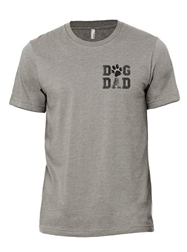 Thread Tank Dog Dad Men's Modern Fit T-Shirt Top Tee Large Military Grey