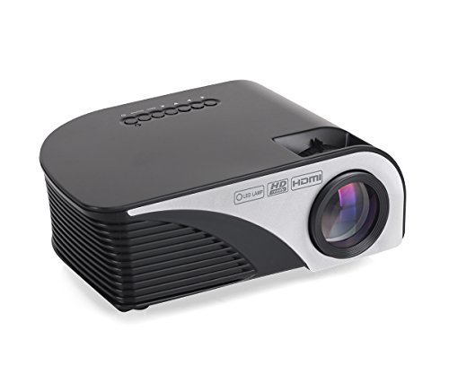 "Portable Projector LCD Home Movie Projector 1200 Lumens,4inch Multimedia Home Projector Support Full HD 1080P,HDMI,USB,VGA,AV,ATV for 35""-120"" Home Theater,TVs,Laptops, Games&Smartphone.iDeer (Black) by iDeer Life"
