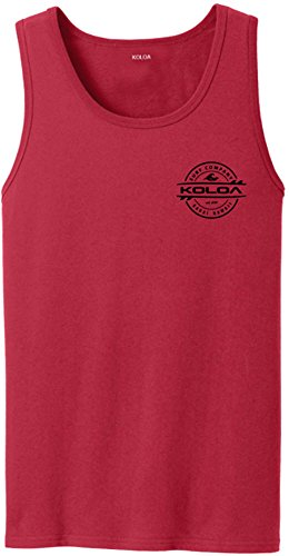 Joe's USA Koloa 2-Sided Thruster Logo Tank Top-Red/b-2XL
