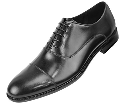 Asher Genuine up Lace Waxy Calf Leather Green Cap Toe Black Mens Shoe Dress Oxford rqTrE