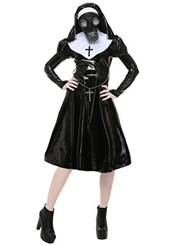Plus Size Adult Dark Nun Costume 1X Black,White