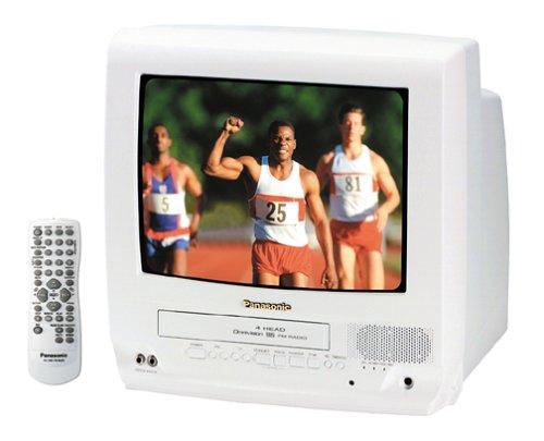 Portable Tv Vcr - Panasonic PV-C1351W 13-Inch TV/VCR Combo, White