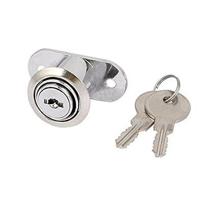 eDealMax Gabinete Armario puerta corrediza de 22 mm x 24 mm Cilindro con llave de bloqueo