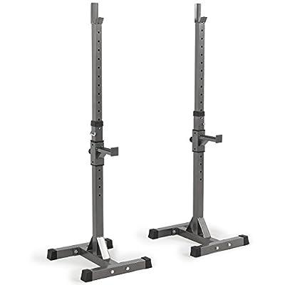 Akonza 2PCS Adjustable Rack Solid Steel Standard Squat Barball Free Press Bench Equipment Training Cross Fit