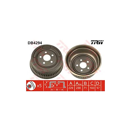 TRW DB4294 Brake Drums: