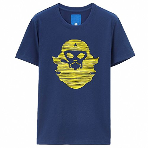 Price comparison product image Men T-shirt Printed Short Sleeves Tees Cotton Crewneck Slim Fashion Tee Style Quality Clothes 02Blue L