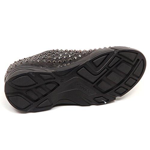 Shoe Giglio Donna Pitone Leather E6820 Woman Nero Stampa Pinko Black 4 Sneaker Eco qvcwIUp