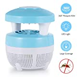 AdorioVix Bug Zapper, Indoor Electronic Mosquito Killer Lamp, Safe USB Powered Mosquito Night Lamp with Built in Fan, Insect Mosquito Trap for Bedroom Office Garden Yard(Mushroom Shape)